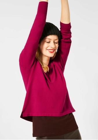 STREET ONE V-Ausschnitt-Pullover, mit überschnittenen Schultern kaufen