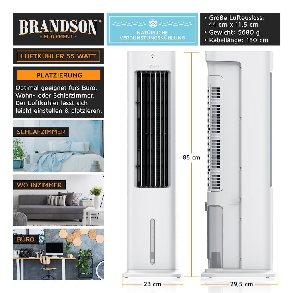 Brandson Turmventilator »Klimagerät, Befeuchter, Verdunstungskühler«, 55 W mit 5L Wassertank