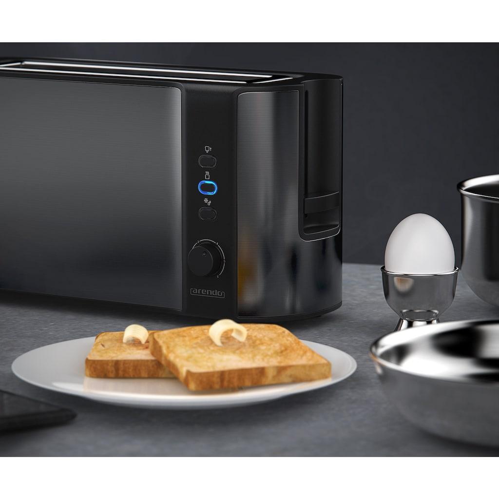 Arendo Automatik 2 Scheiben Langschlitz Toaster in Cool Grey