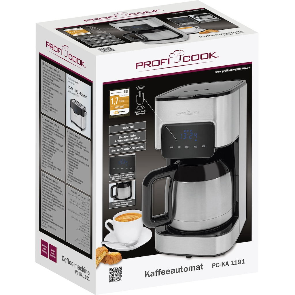 ProfiCook Filterkaffeemaschine »PC-KA 1191«, Papierfilter, 1x4