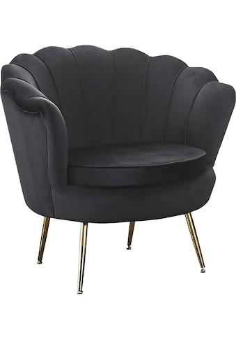 SalesFever Loungesessel »Clam«, im Muscheldesign, Cocktailsessel in weichem Samtvelours kaufen