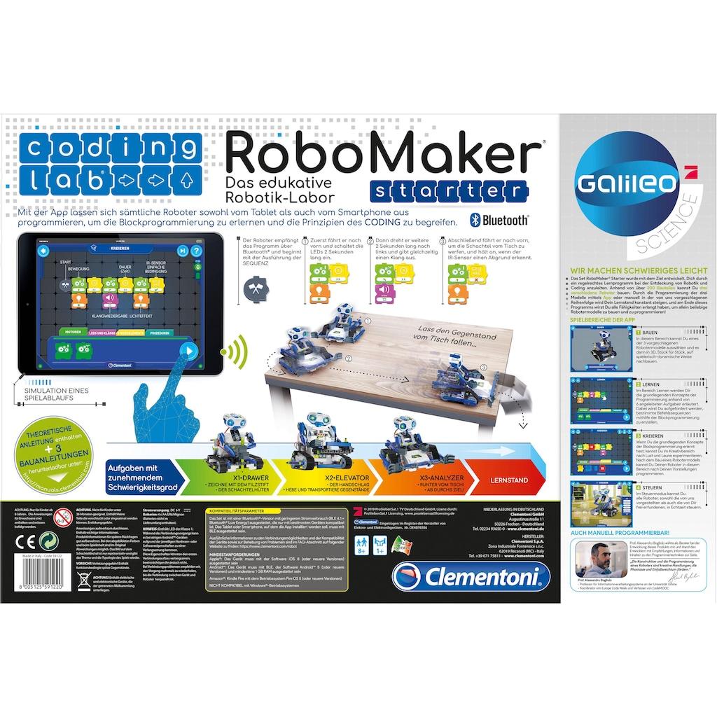 Clementoni® Modellbausatz »Galileo - RoboMaker Starter«, mit kostenloser App; Made in Europe