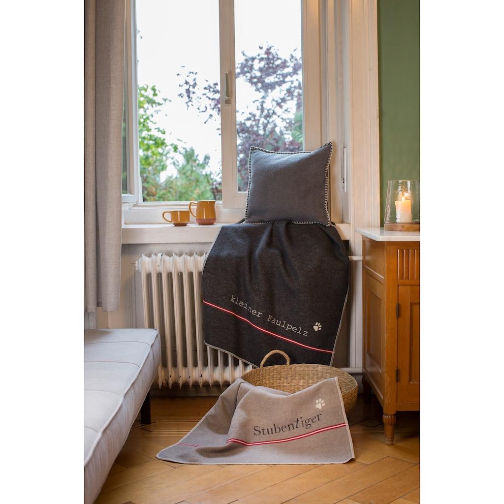 """DAVID FUSSENEGGER Tierdecke, Katze, kuschelige Tierdecke wendbar """"Stubentiger"""" - Made in Austria"""