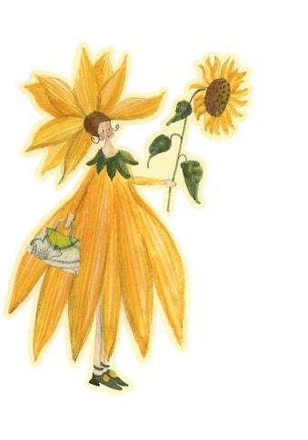 Wall-Art Wandtattoo »Gelbe Sonnenblumen Fee Mädchen« kaufen