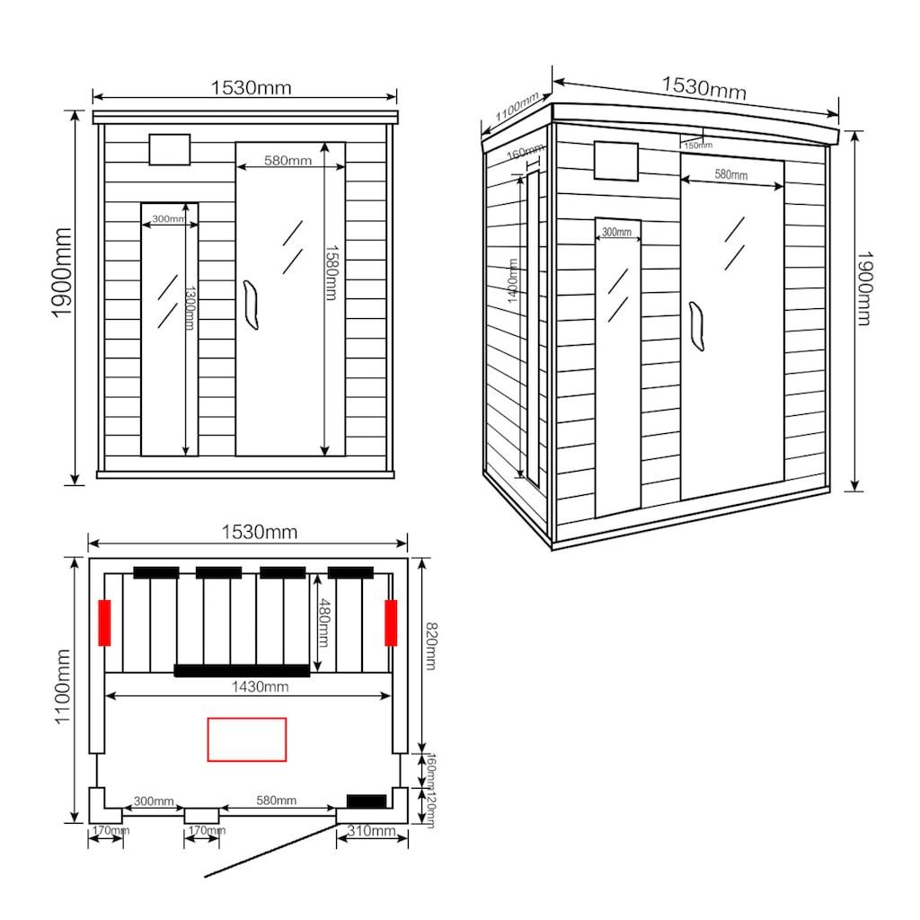 HOME DELUXE Infrarotkabine »Gobi L«, für bis zu 3 Personen