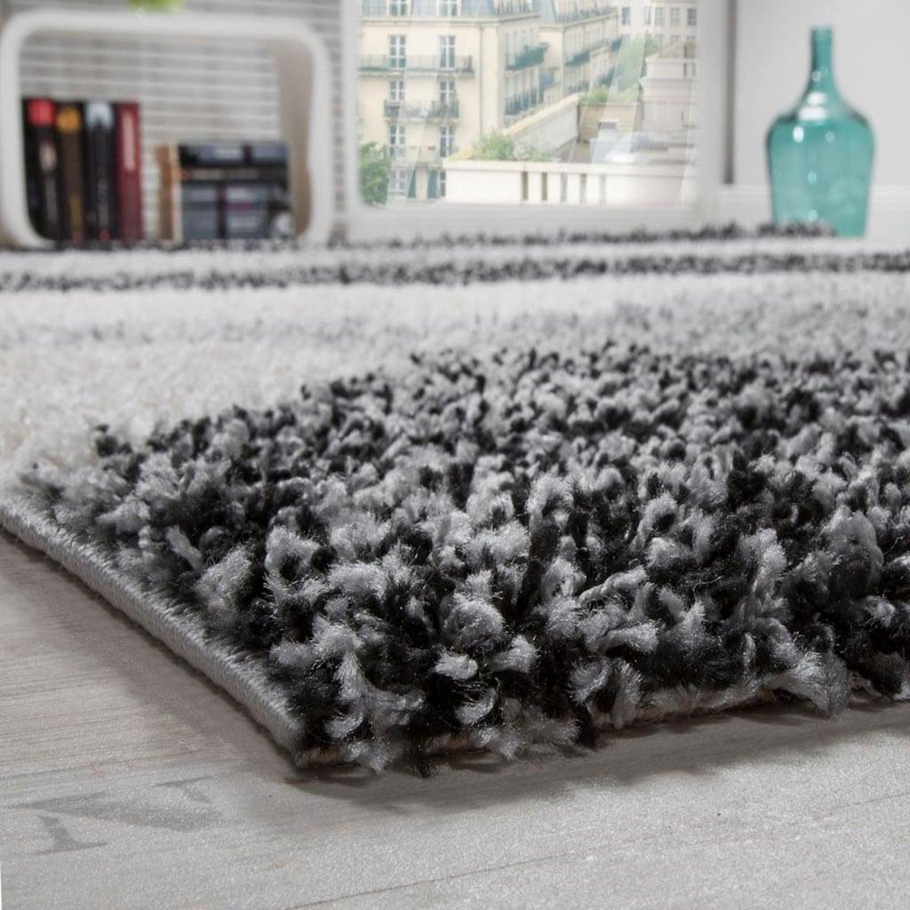 Paco Home Hochflor-Teppich »Mango 308«, rechteckig, 35 mm Höhe, Moderner Hochflor Shaggy Teppich, Wohnzimmer