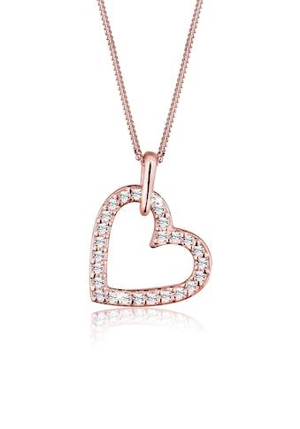 Elli Collierkettchen »Herz Anhänger Kristalle 925 Silber« kaufen