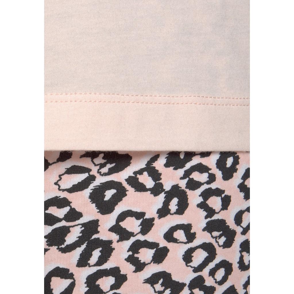 s.Oliver Schlafanzug, mit Leo-Print