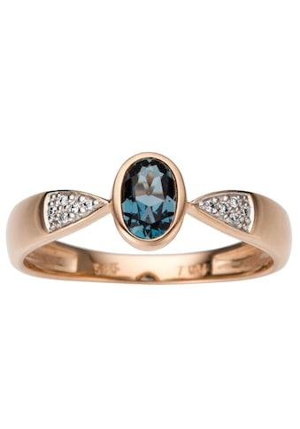 Firetti Diamantring, mit Brillanten und Blautopas kaufen
