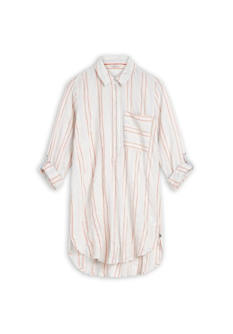 Sandwich Lange Bluse mit eingewebtem Streifenmuster. kaufen