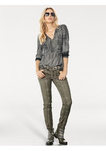 Shirtbluse mit Punkte-Dessin kaufen