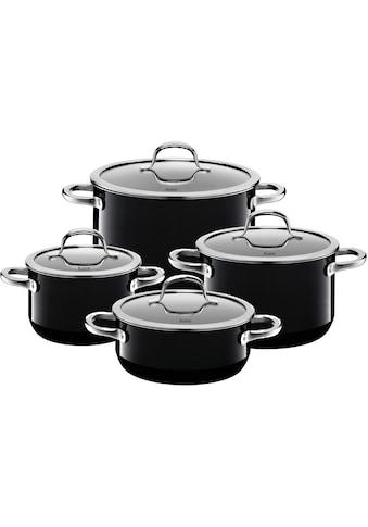 Silit Topf-Set »Passion Black«, Silargan®, (Set, 8 tlg.), Silargan, Induktion, Glasdeckel kaufen