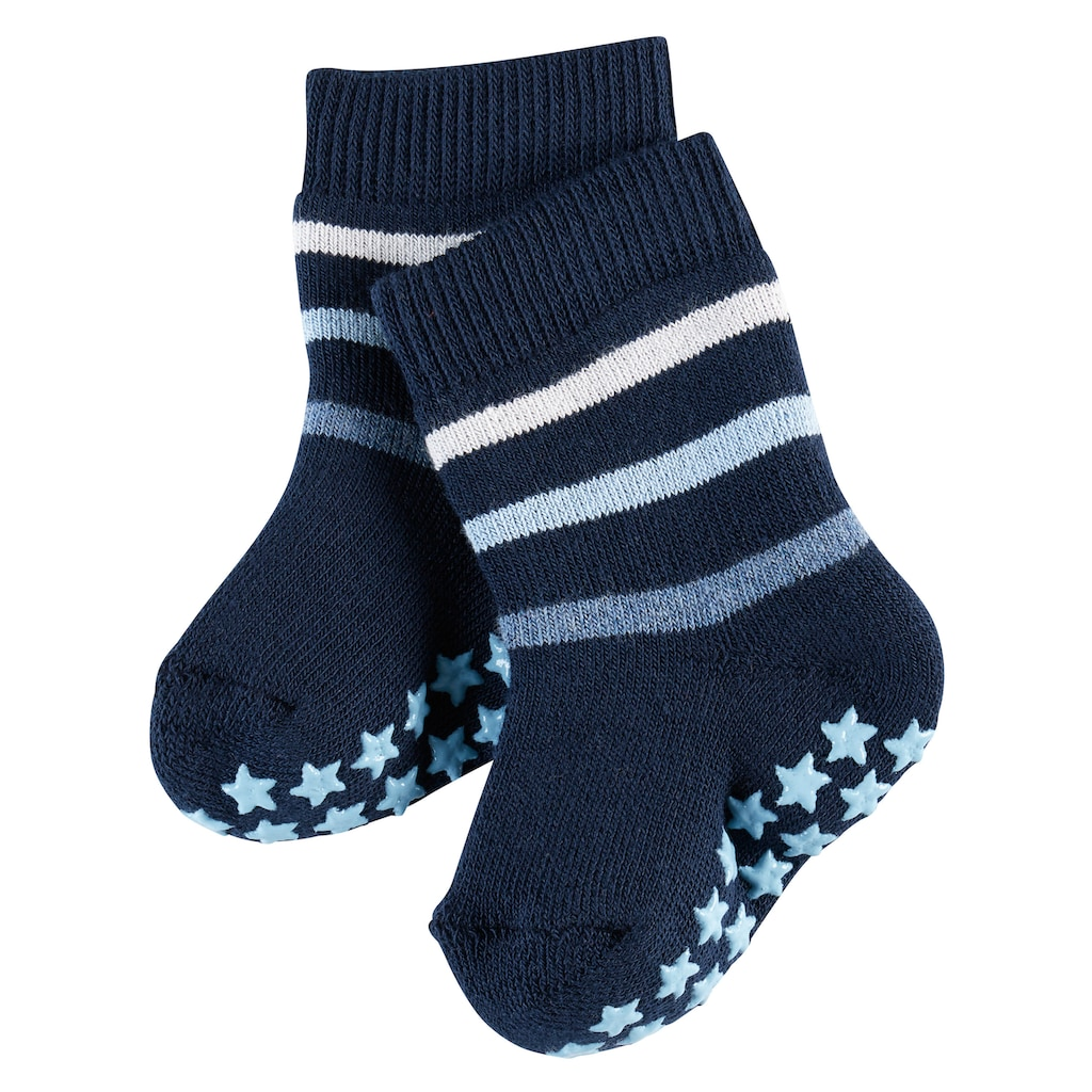 FALKE Socken »Multi Stripe«, (1 Paar), Vollplüsch-Strumpf aus Baumwolle