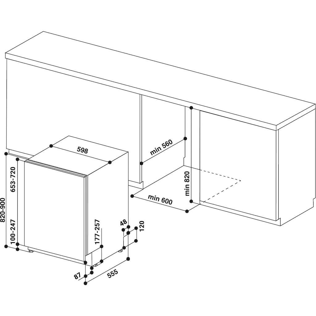 BAUKNECHT vollintegrierbarer Geschirrspüler »OBIO POWERCLEAN 6330«, OBIO POWERCLEAN 6330, 14 Maßgedecke