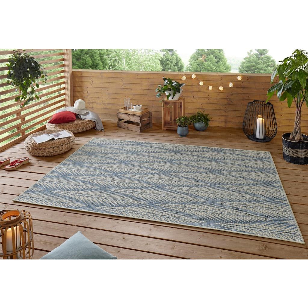 bougari Teppich »Pella«, rechteckig, 4 mm Höhe, In- und Outdoor geeignet, Flachgewebe, Wohnzimmer