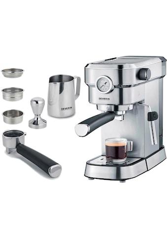 """Severin Espressomaschine »KA 5995 """"Espresa Plus""""«, inkl. Tamper und Edelstahl-Milchschaumkännchen kaufen"""