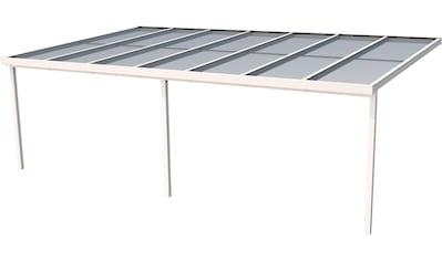 GUTTA Terrassendach »Premium«, BxT: 712x406 cm, Dach Polycarbonat gestreift weiß kaufen
