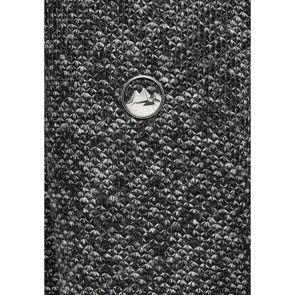 Polarino Strickmantel, mit großer kuscheligen Kapuze