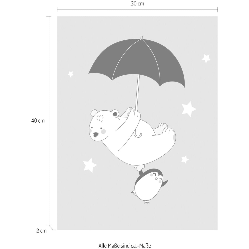 Lüttenhütt Leinwandbild »Eisbär & Pinguin«