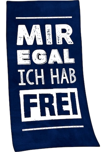 "Badetuch ""Mir egal, ich hab frei"", Minions kaufen"