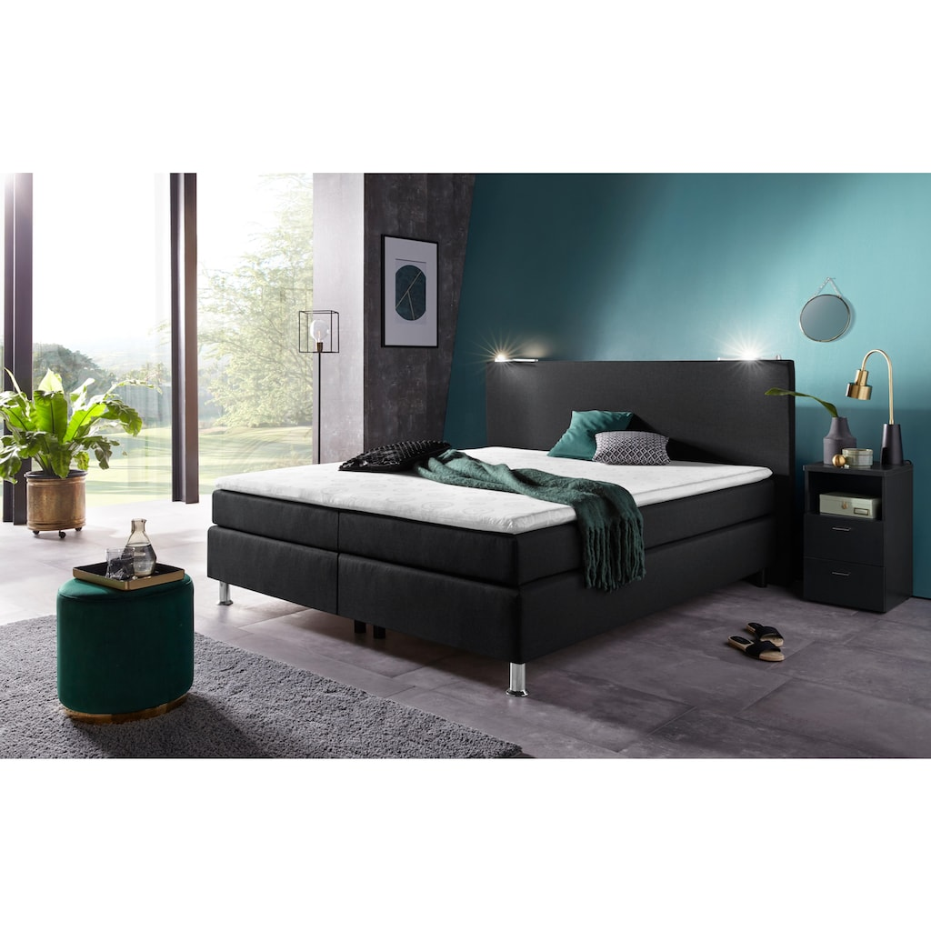 COLLECTION AB Boxspringbett, inkl. LED-Beleuchtung und Topper