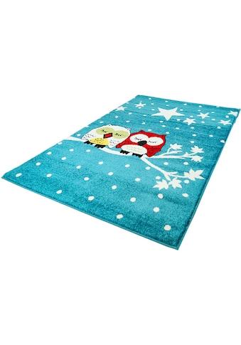 Carpet City Kinderteppich »Moda Kids 1513«, rechteckig, 11 mm Höhe, Eulen Motiv, Kurzflor kaufen