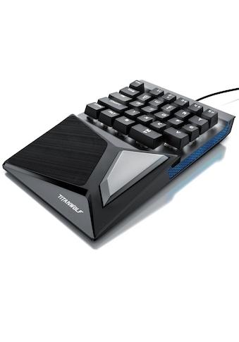 Titanwolf mechanische Keypad Tastatur mit 28 Tasten »Gaming Einhandtastatur« kaufen