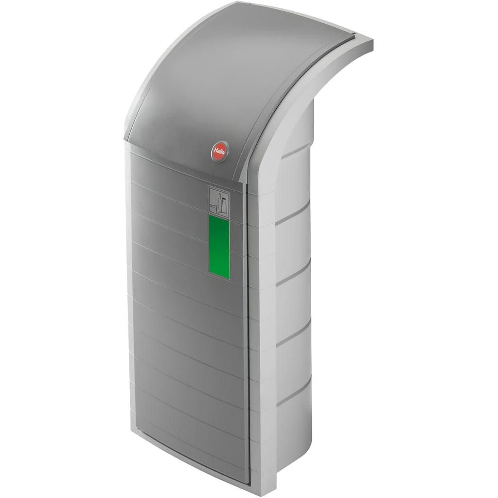 Hailo Müllsackständer »ProfiLine WSB-K, aus Kunststoff, grau«, Inhalt 120 Liter, integrierter Abfallbeutelhalter