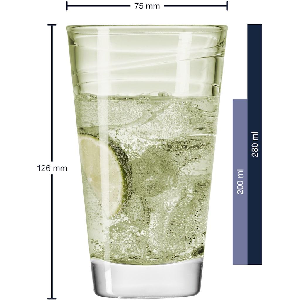 LEONARDO Glas »Colori«, (Set, 6 tlg.), Veredelte mit lichtechter Hydroglasur, 6-teilig