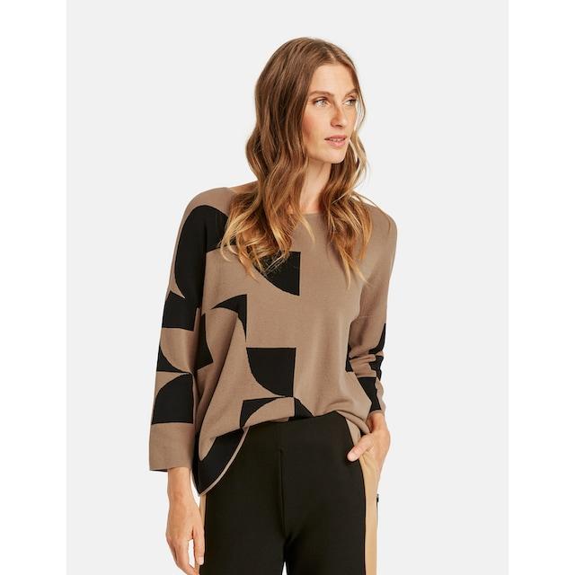 GERRY WEBER 3/4 Arm-Pullover »Pullover mit Kringelintarsien«