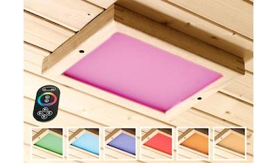KARIBU Farblichtanwendung »Premium LED«, B/T/H: 24/32/3,8 cm kaufen