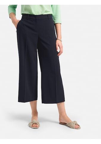 Basler Culotte mit Bügelfalten und unifarbigen Design kaufen
