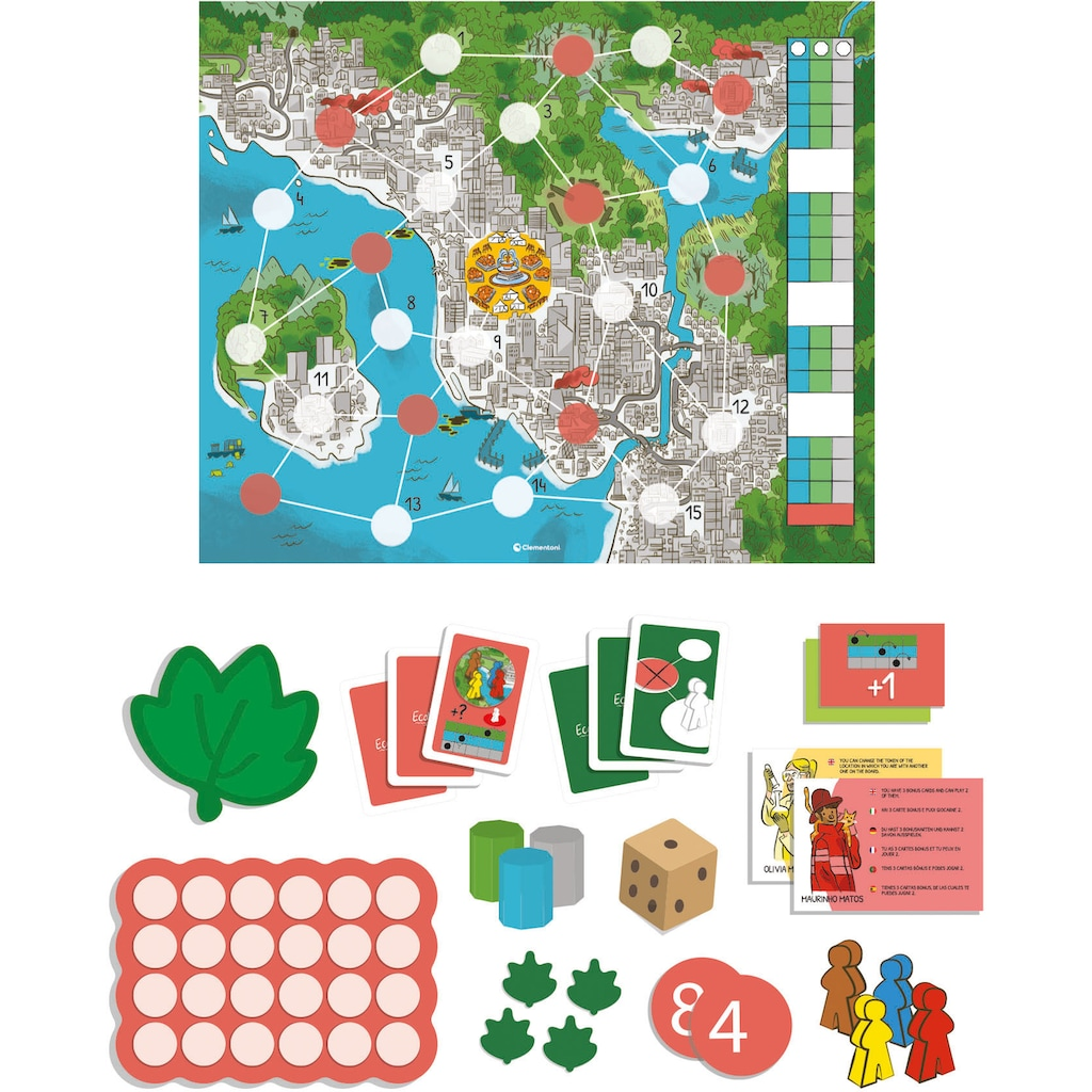 Clementoni® Spiel »Play for Future - Ecosystem«, aus recyceltem Material; Made in Europe