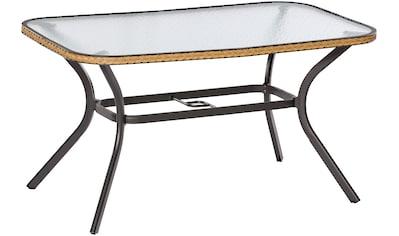 MERXX Gartentisch »Ravenna«, Polyrattan, 150x74x85 cm, natur kaufen