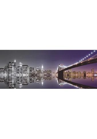 Premium collection by Home affaire Glasbild »Mike Liu: N. Y. Skyline und nächtliche Reflektion« kaufen