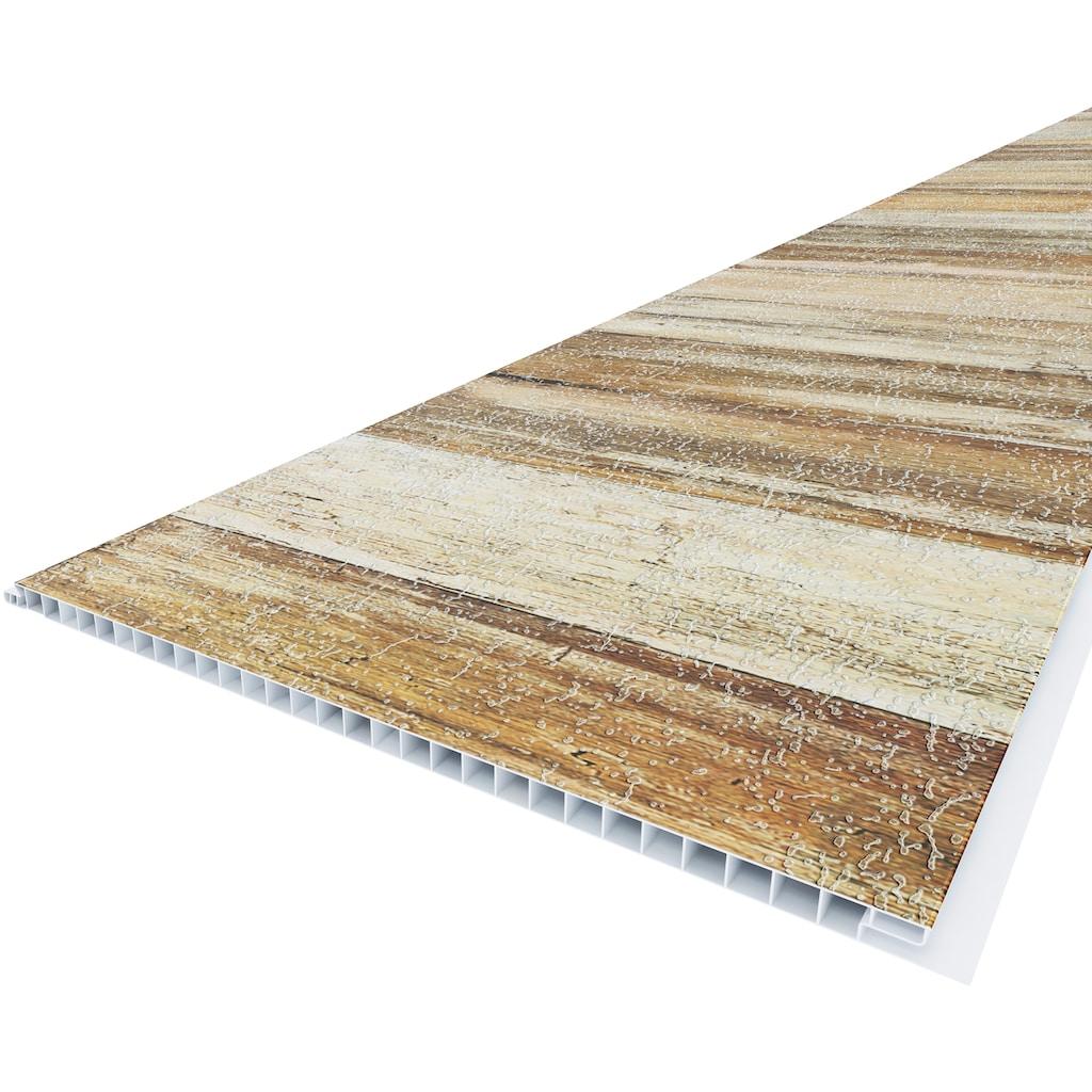 Baukulit VOX Verkleidungspaneel »Reclaimed Wood«, 3D Effekt, braun