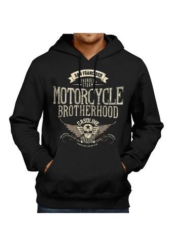 GASOLINE BANDIT® Kapuzenpullover mit großem Biker-Print kaufen