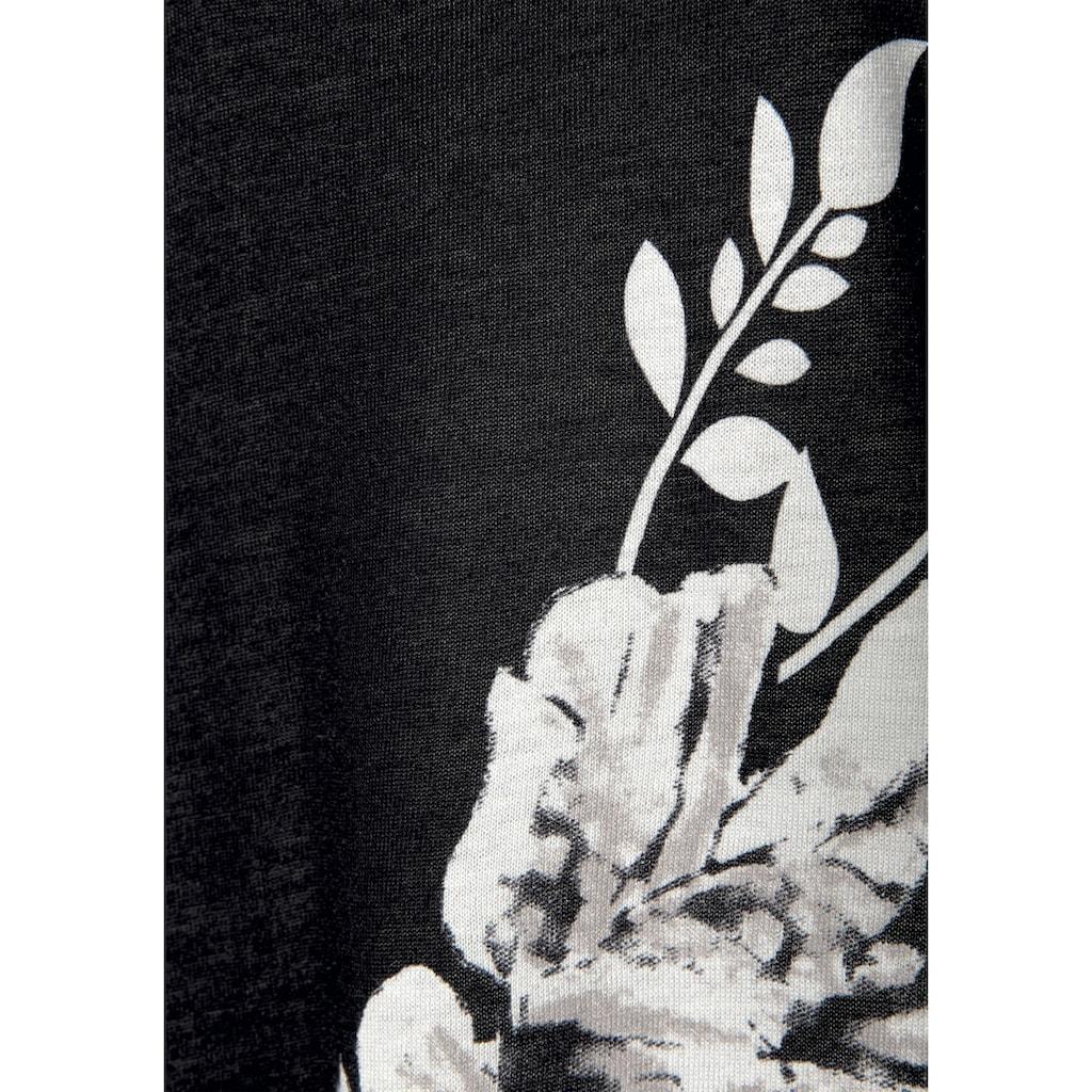 LASCANA 3/4-Arm-Shirt, mit Trompetenärmeln