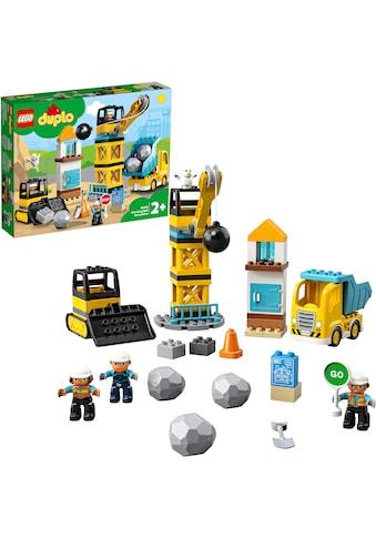 LEGO® Konstruktionsspielsteine »Baustelle mit Abrissbirne (10932), LEGO® DUPLO® Town«,... kaufen