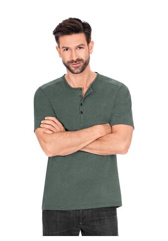 Trigema T-Shirt, mit Knopfleiste DELUXE Baumwolle kaufen