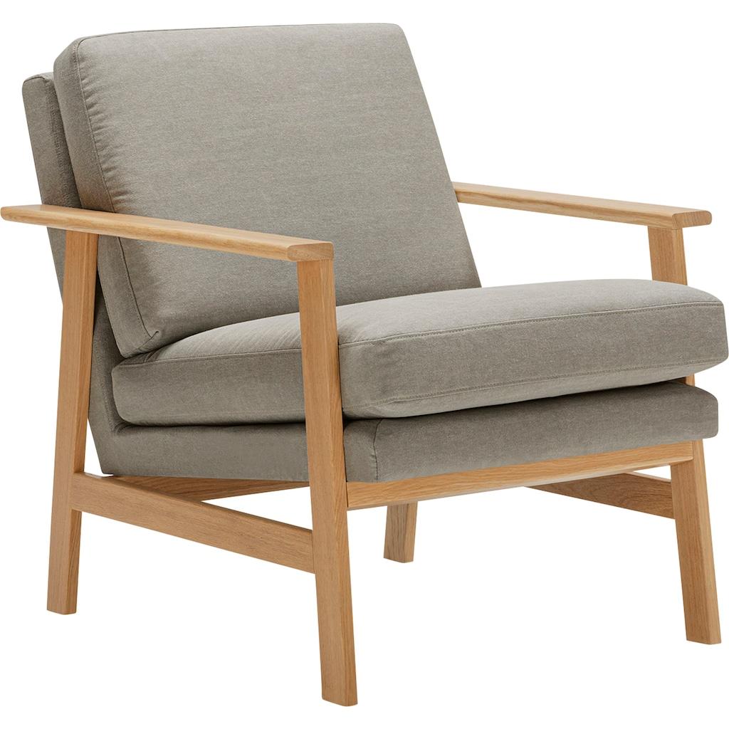 LOVI Sessel »Pepper«, mit hochwertigem massivem Eichengestell, neuer Klassiker mit zeitlosem Design
