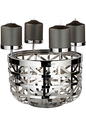 Fink Kerzenleuchter »JORIS«, 4-flammig, Durchmesser 30,5 cm, Adventsleuchter kaufen