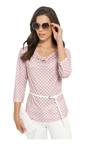 Lady Shirt mit schönem Tupfen - Muster kaufen