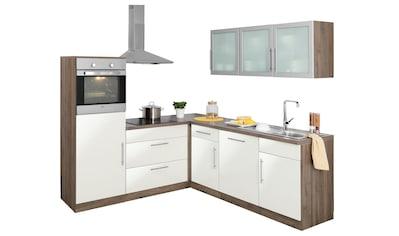 wiho Küchen Winkelküche »Aachen«, ohne E - Geräte, Stellbreite 210 x 220 cm kaufen