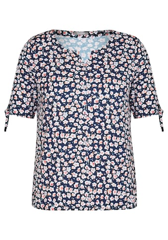 Rabe Blusenshirt, mit geblümtem Allover-Muster und Bindebändern kaufen