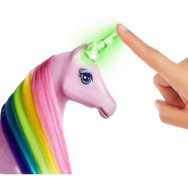 """Mattel® Anziehpuppe """"Barbie Dreamtopia Magisches Zauberlicht Einhorn mit Puppe"""""""