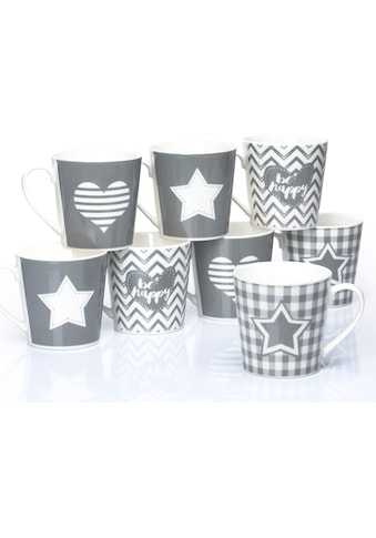 "Retsch Arzberg Becher ""Grey Star & Heart"" (8 - tlg.) kaufen"