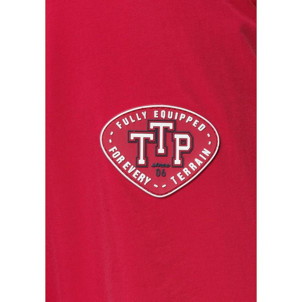 TOM TAILOR Polo Team Blouson, mit Streifen in Kontrastfarbe und Logo Badge am Ärmel