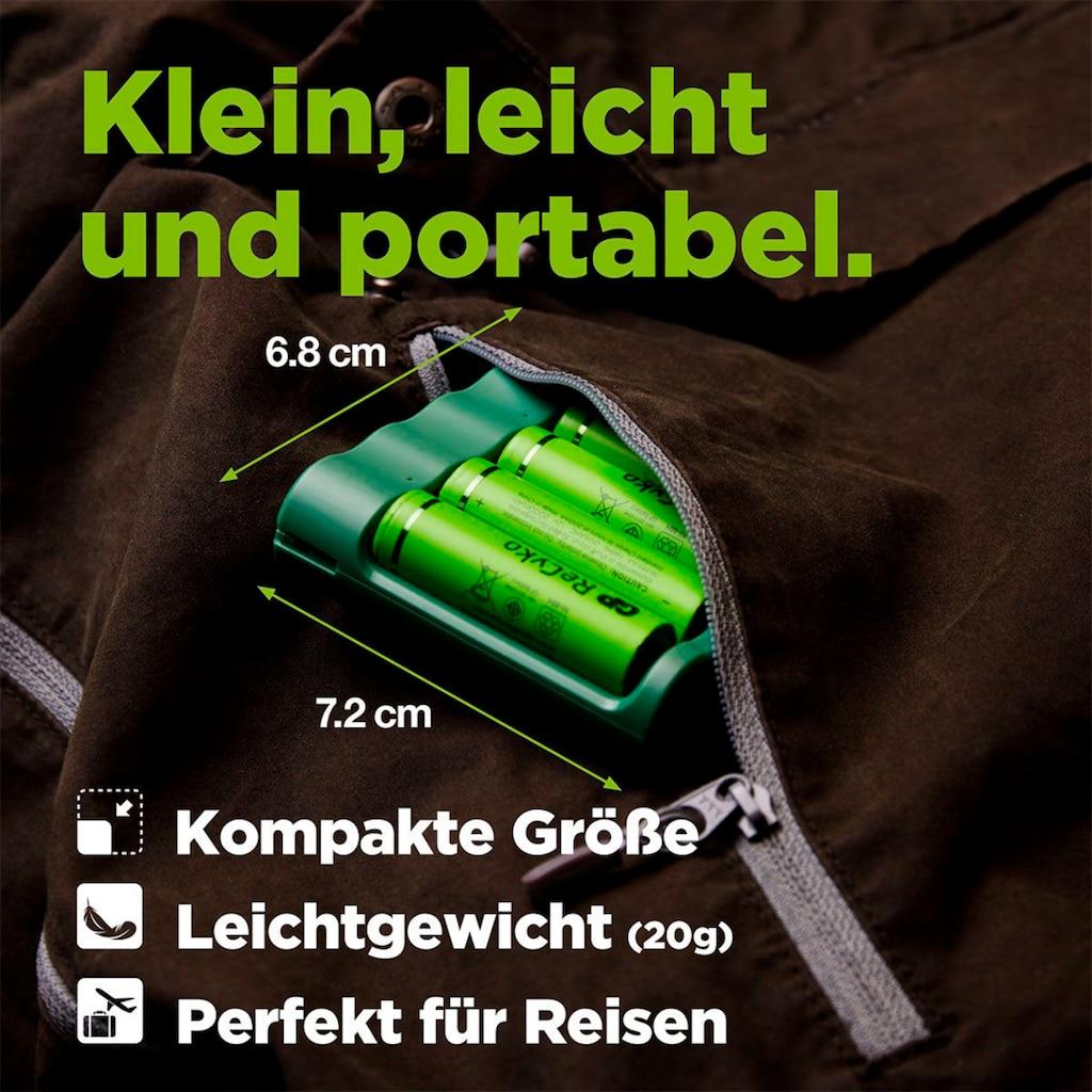 GP Batteries Akku-Ladestation »USB-Akkuladegerät B421 inkl. 4x ReCyko AA Akkus je 2100 mAh«