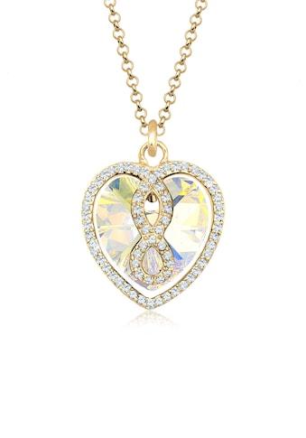 Elli Collierkettchen »Herz Infinity Kristall Icône 925 Silber« kaufen